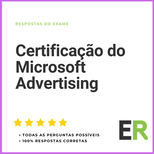 Certificação do Microsoft Advertising