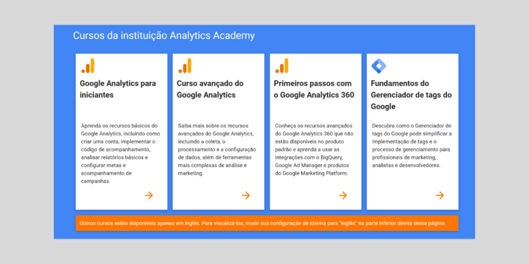 Google Analytics Academy Cursos de marketing digital para alavancar sua carreira